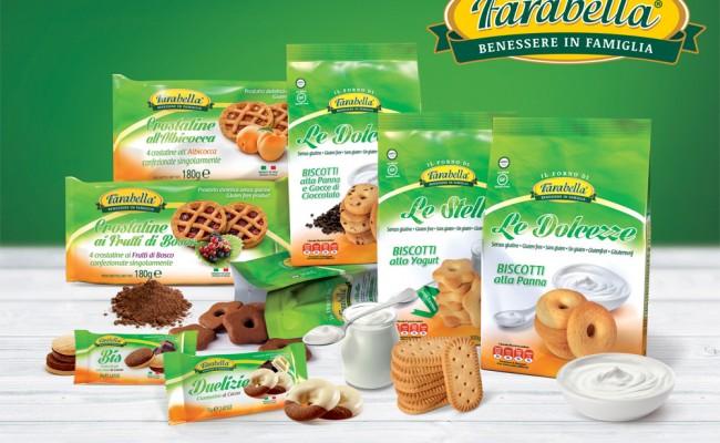Linea dolci senza glutine Farabella: biscotti, merendine e snack